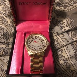 Betsy Johnson Gold Watch